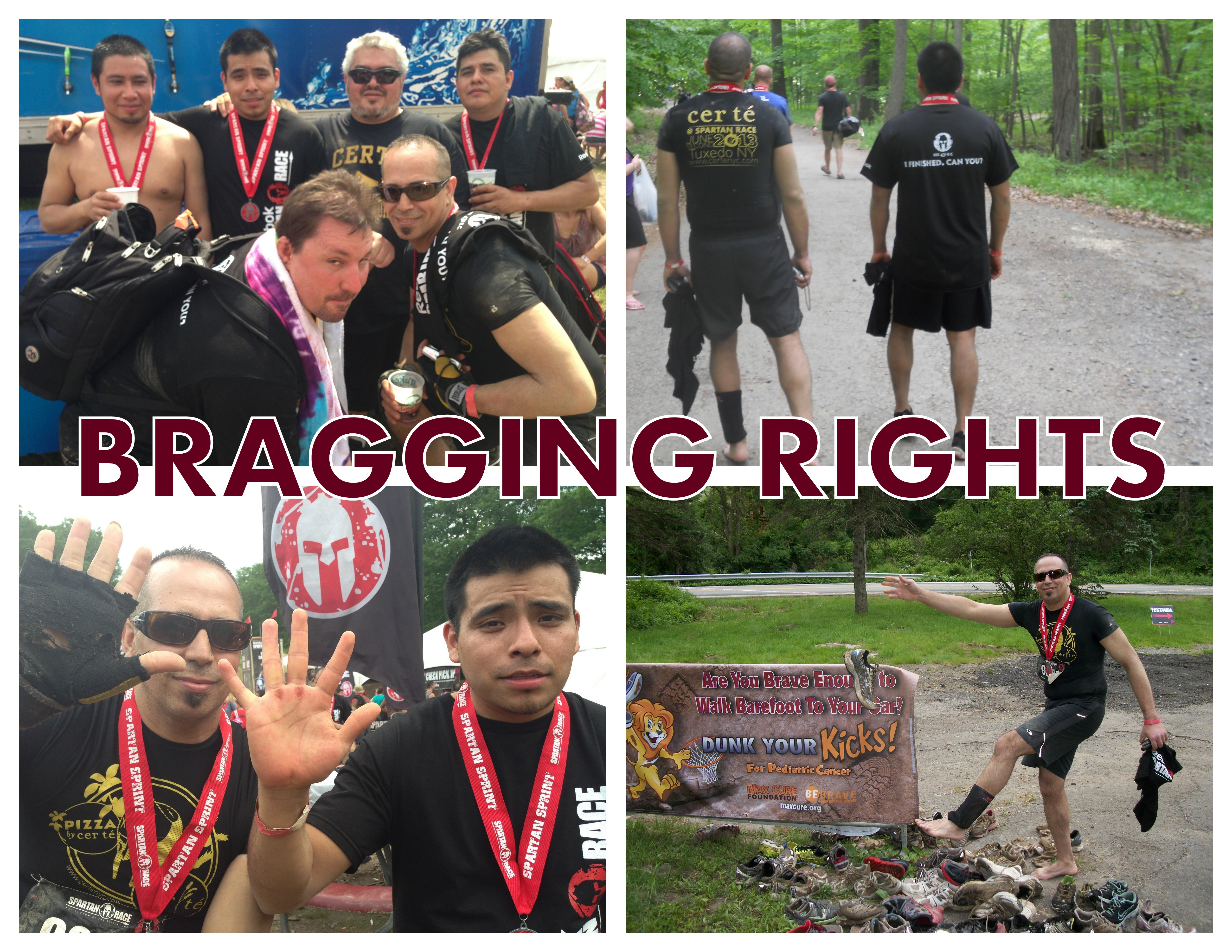 Spartan Race 2013. Collage. BRAGGING RIGHTS