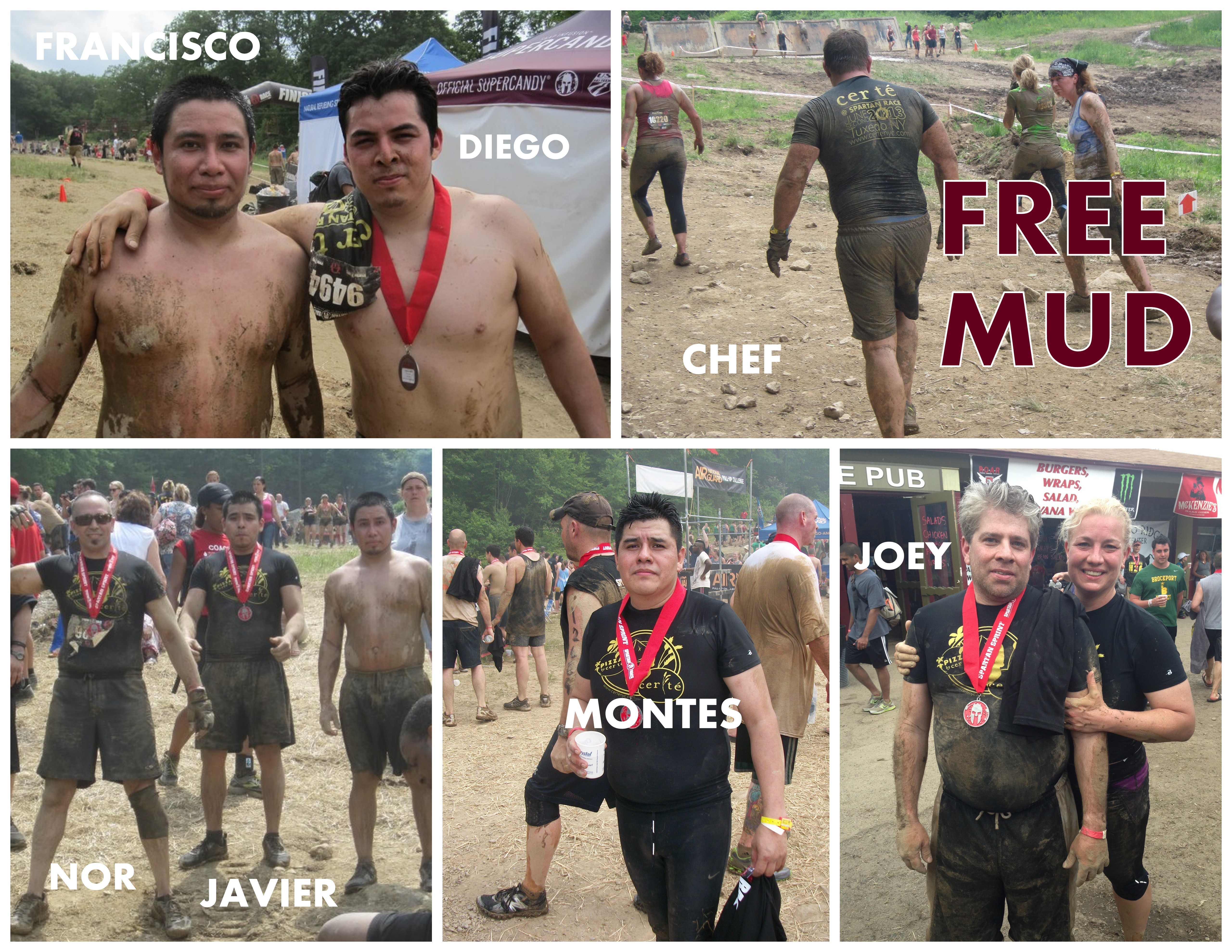Spartan Race 2013. Collage. FREE MUD