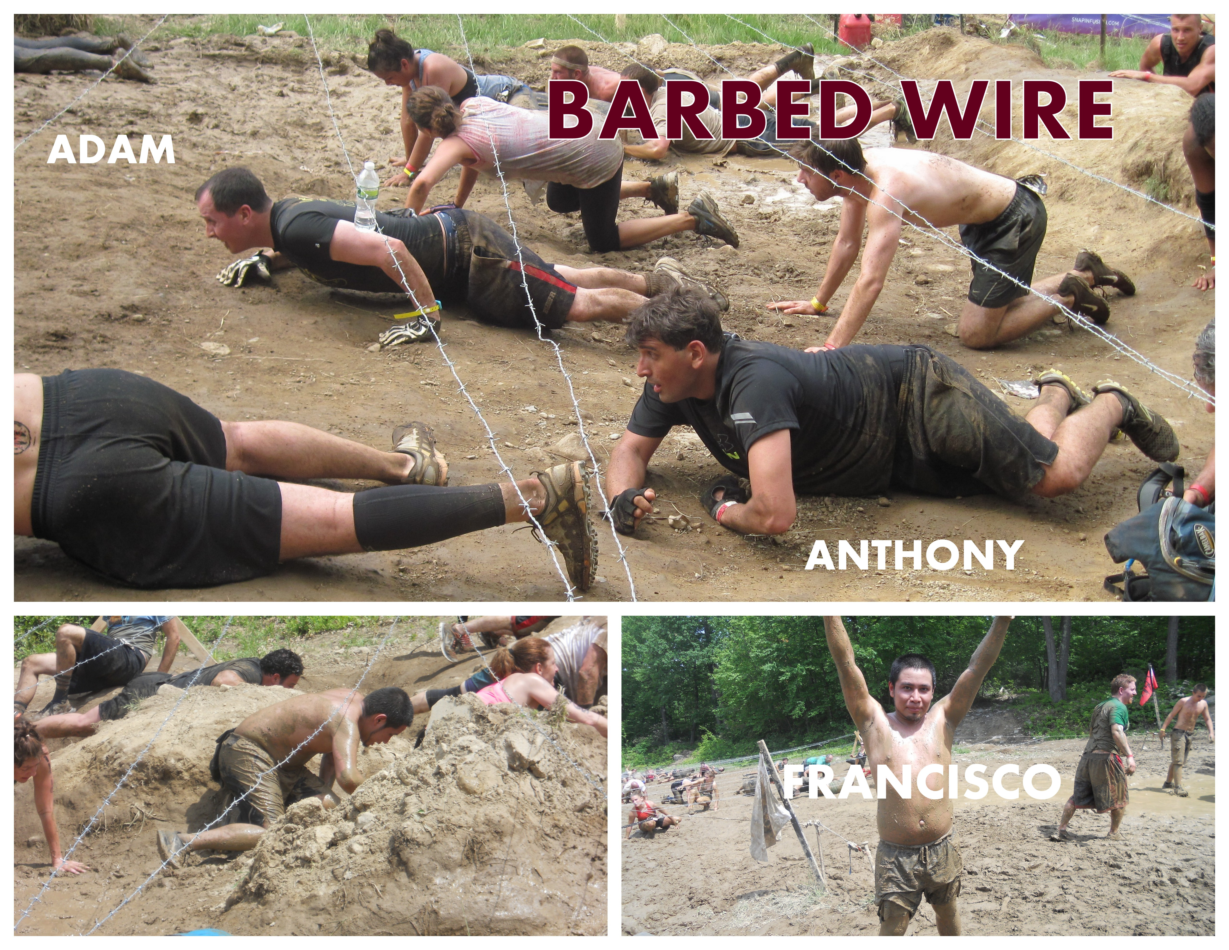 Spartan Race 2013. Collage.BARBED WIRE