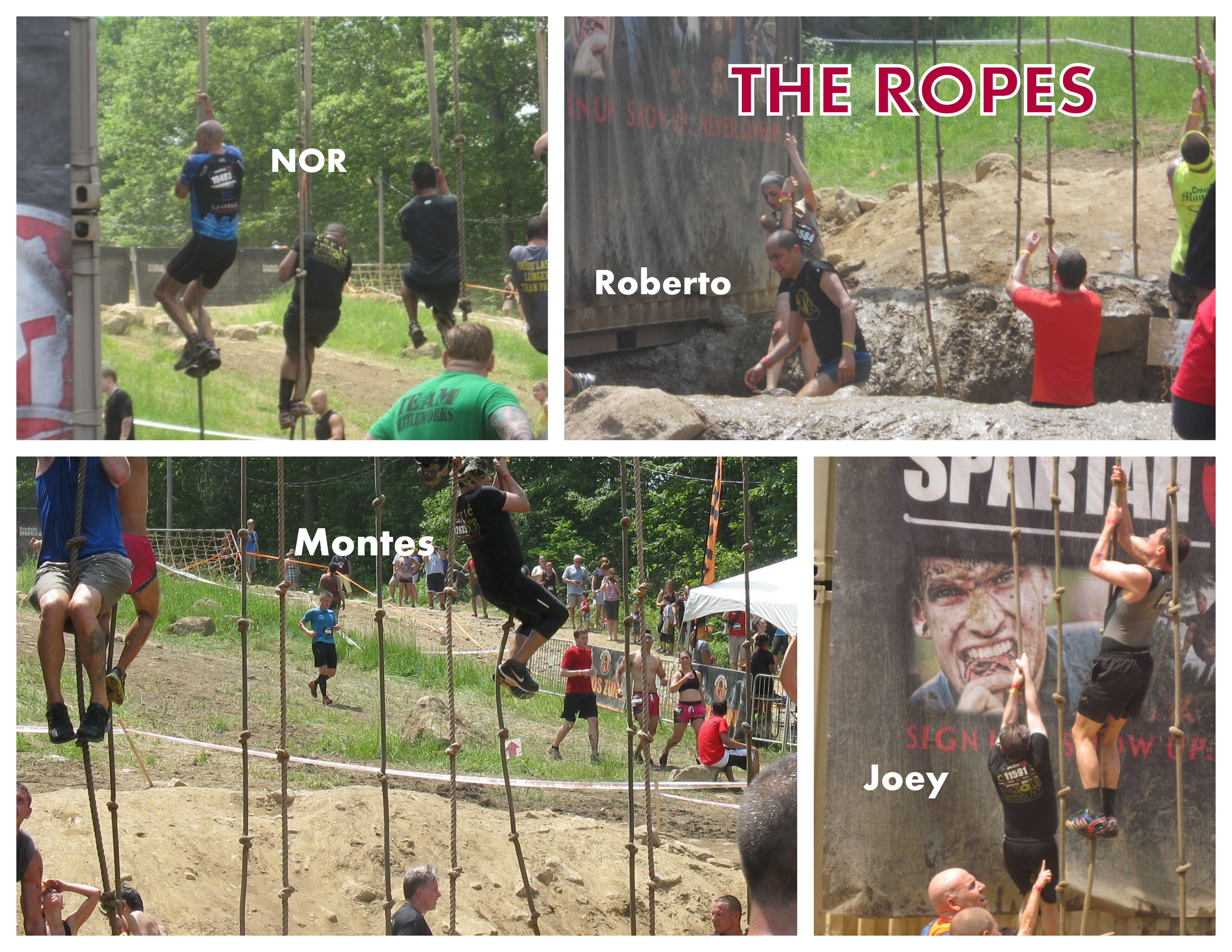 Spartan Race 2013. Collage.ROPES