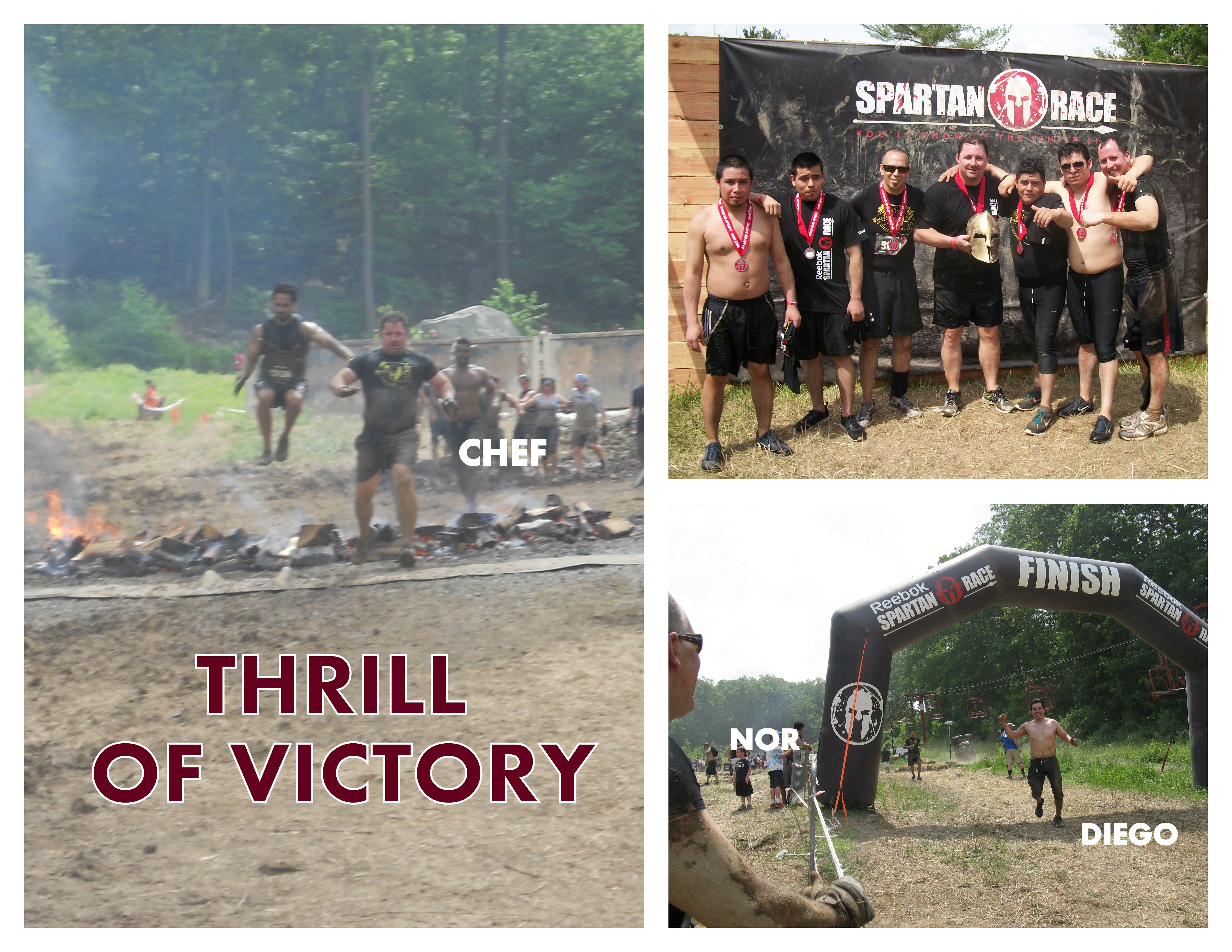 Spartan Race 2013. Collage.THRILL OF VICTORY