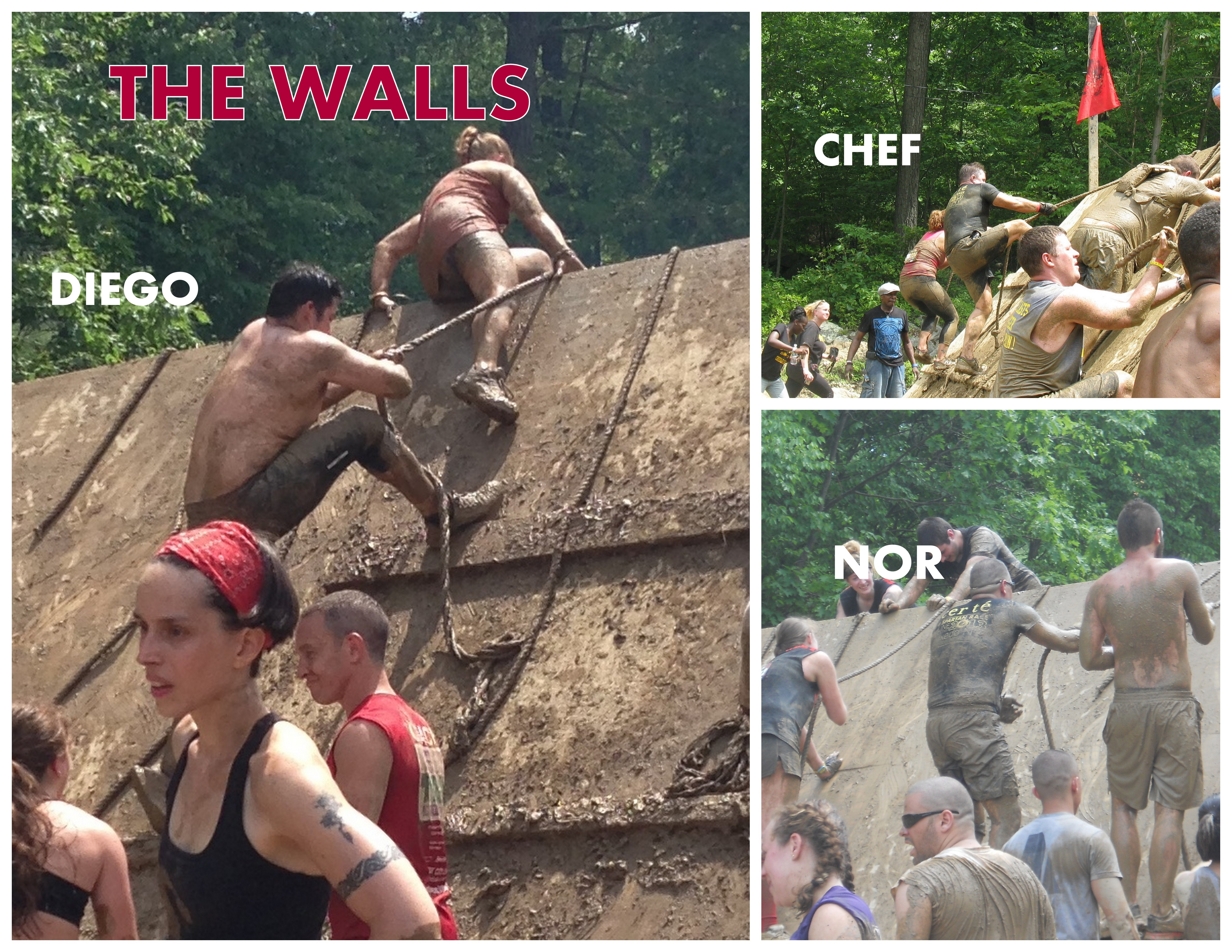 Spartan Race 2013.Collage. THE WALLS