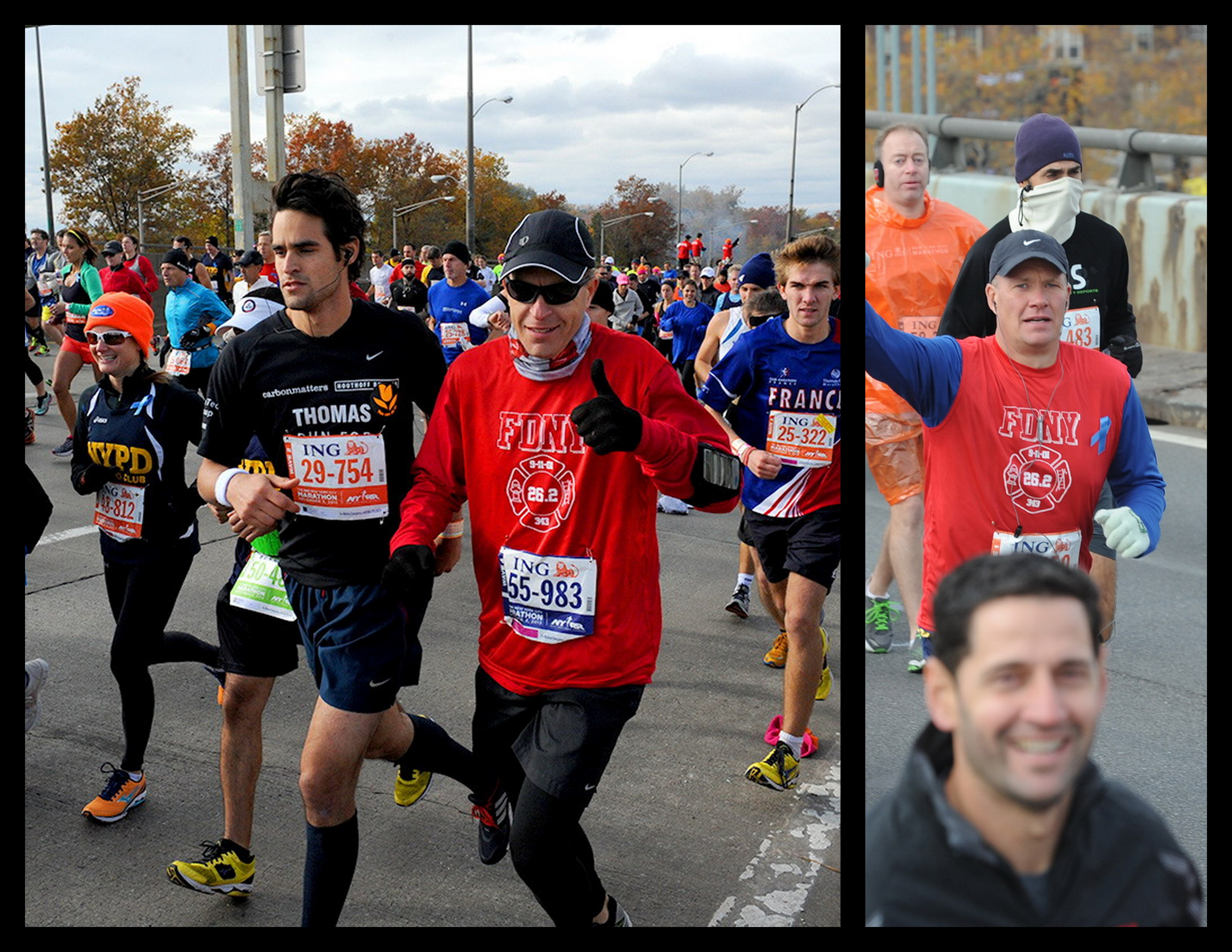 FDNY NYC Marathon.Runners.2013.collage
